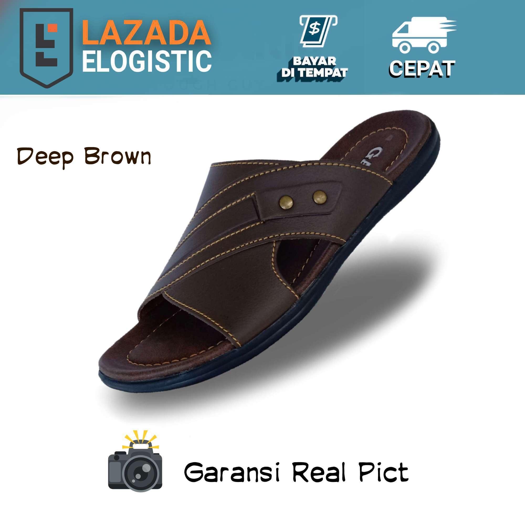 [gatio] sandal kulit pria / sandal pria kulit slop selop / sandal kulit pria kulit casual / sandal kulit casual / sandal pria kulit  / sandal  – bb43