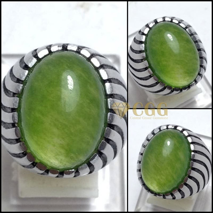 batu cincin natural jade taiwan original like idocrase aceh