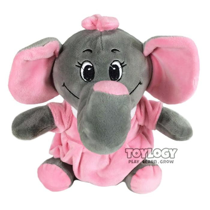 Toylogy Boneka Bayi Hewan Gajah Lucu ( Elephant Funny Stuffed Plush Animal Doll Safety Baby )