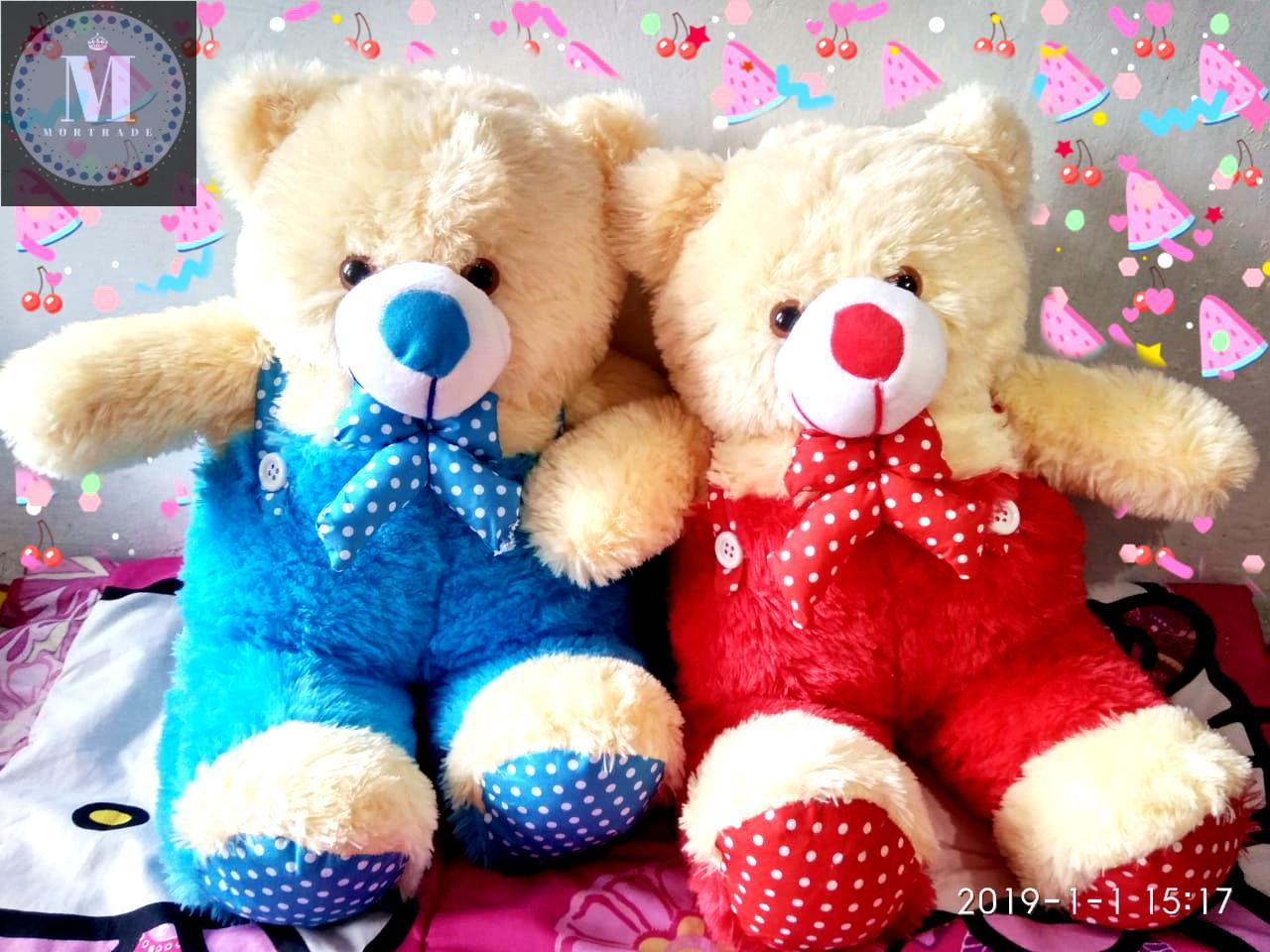 ... Boneka Beruang Teddy Bear XL Cream Merah - MOR - 3