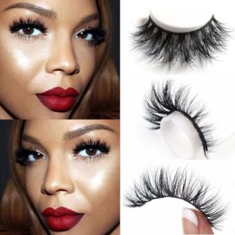1 Pair 3D False Eyelashes Mink Hair Natural Thick Eye Lashes Extension - intl