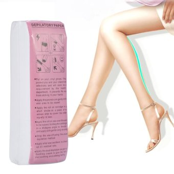 100 pcs/Bag Leg Arm Hair Removal Waxing Strip Paper Depilatory Nonwoven Epilator Paper -