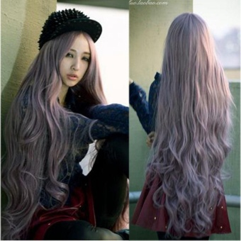 100cm Women's Lady Long Curly Wavy Full Hair Wigs Cosplay Party Lolita Wig - intl
