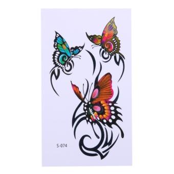 10 Pcs Butterfly Pola Tato Sementara Stiker Tahan Air Tubuh Seni Menghias- Internasional