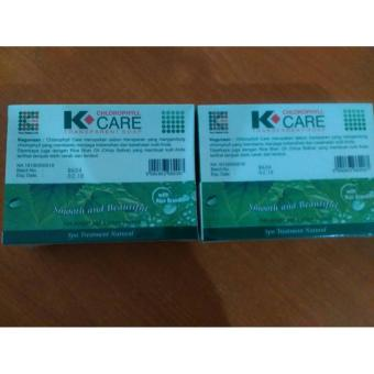 2 Paket Sabun K Care Chlorophyll Transparent Soap 100gr