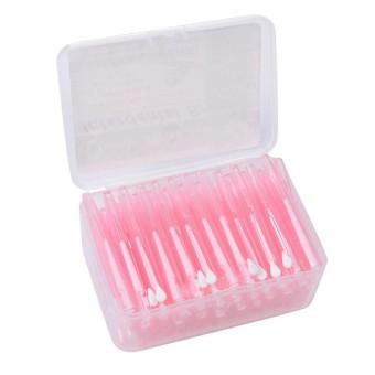 60 Pcs box Dental Slim Soft Push-pull Interdental Sikat Pembersih Alat  Perawatan Mulut 72ca1b59a9