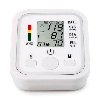 Allwin Portable LCD Monitor Tekanan Darah Digital Pergelangan Tangan Hati Meteran Ukur Suara Baru (International