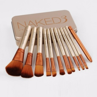 Anekaimportdotcom Brush Naked3 isi 12pcs, Jual Brush Set Murah, Kuas Make Up Set