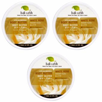 Bali Ratih Body Butter 3 Pc - White Rose