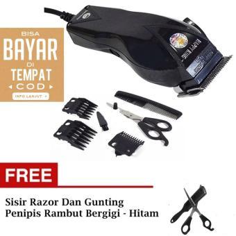 BISA BAYAR DI TEMPAT Hair Clipper Alat Cukur Potong Gunting Rambut Hitam 2a88a03300