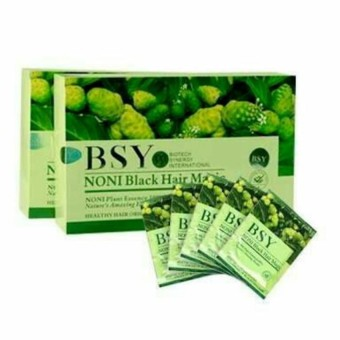 BSY Noni Black Hair Magic Shampoo - 1 Box Isi 20 Sachet