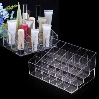 Batal Acrylic 24 Holder Cosmetic Lipstick Storage Organizer Container Case - Internasional ...