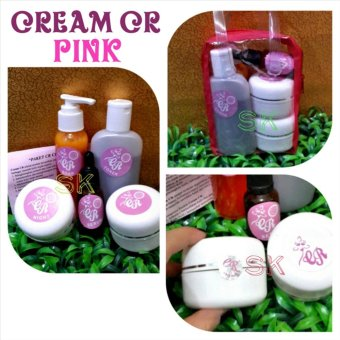 Cream cr pink asli hologram MDS -1paket 5 In 1