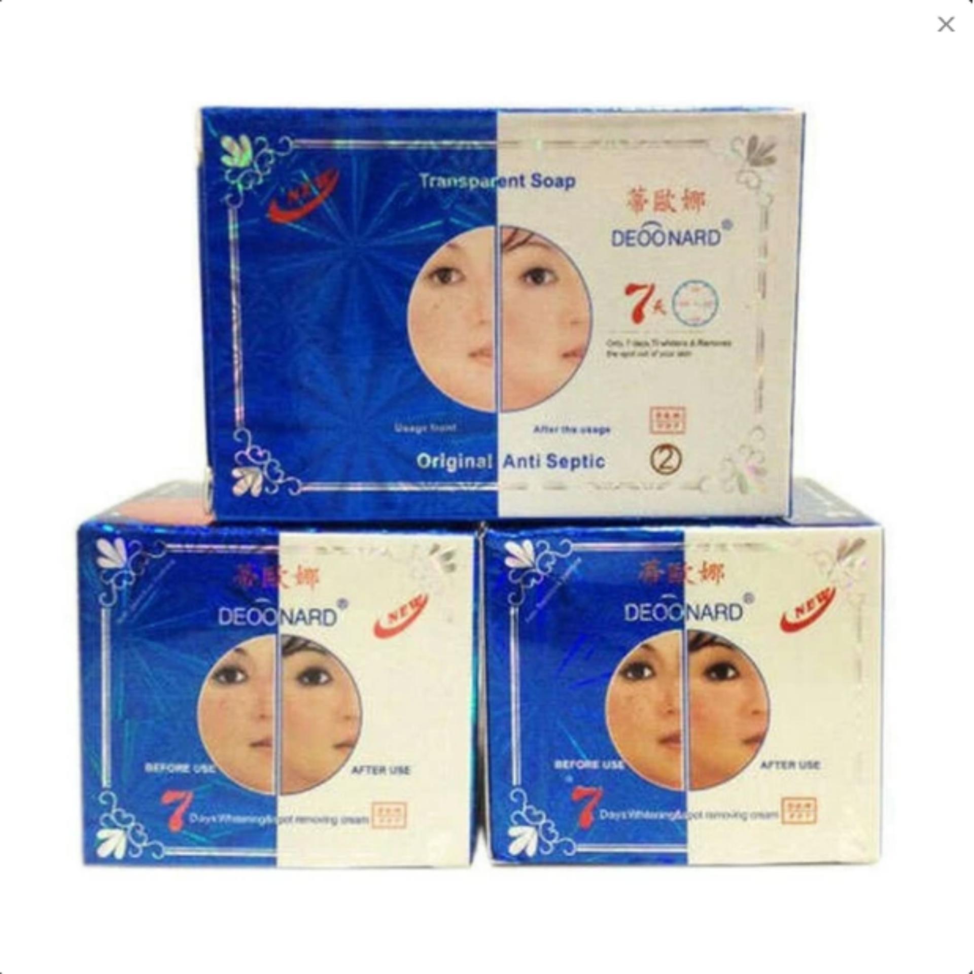 Perawatan Wajah Deoonard Biru Blue 25gr Cream Siang A Malam B Sabun Whitening Hitam Anti Septic Hijau Bandingkan Toko Original 7 Days Paket Krim Deonard Asli
