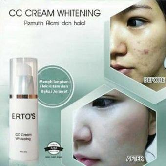 Ertos CC Cream Whitening Cream Siang Pencerah UV Protector ORIGINAL 100% -