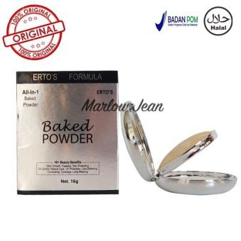 Ertos Original Baked Powder Ertos Bedak Wajah Compact Powder - 17gr