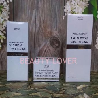 Ertos Paket Whitening 3in1 (CC Cream+Night Cream+Facial Wash)
