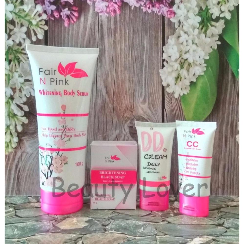 Hot Deals Fair N Pink Paket Lengkap 4 in 1 CC Cream DD Cream
