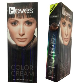 Feves Color Cream Cat Rambut 4.3 Coffee