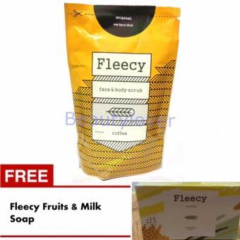 Fleecy Face & Body Scrub Coffee - Gratis Fleecy Fruits and Milk Soap
