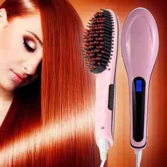 Hair Straightener Comb Catokan Sisir Pelurus Bonding Rambut Pink