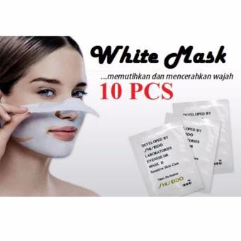 HOKI COD - White Mask - Masker Putih Pengangkat Komedo - 10 Pcs