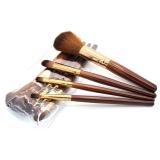 ... HomeGarden 4 Pcs Make Up PRO Set Kuas Alas Bedak Perona Bibir dengan Pensil Alat Sikat