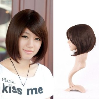 Harga Women Short Wig Cute Synthetic Straight Wig Hair - intl