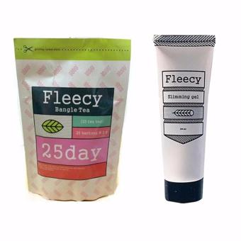 Harga Fleecy Paket Pelangsing Bangle Tea dan Massage Gel