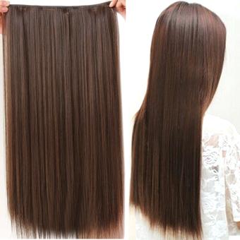 Jual Gaya fashion rambut lurus panjang klip di ekstensi wig sopak 20 cm nx 60  cm Matt murah 95c9e4a6db