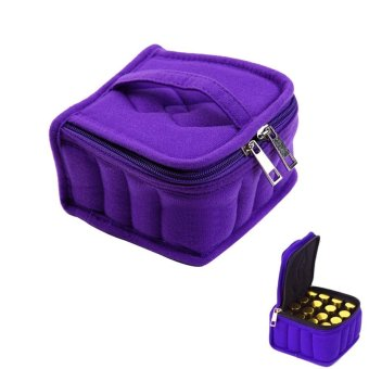 Harga leegoal 16-Bottle Essential Oil Carrying Case Oil Cases For Essential Oils Sturdy Zippers - Holds 5ml, 10ml, 15ml And Roll-Ons Bottles, Zipper - intl