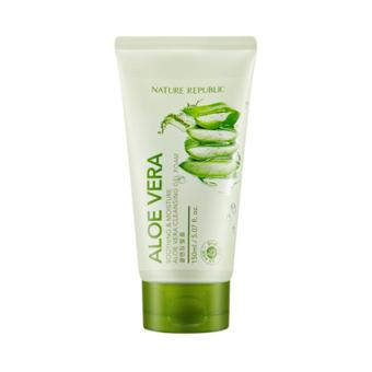 Harga Nature Republic Soothing & Moisture Aloe Vera Cleansing Gel Foam 150ml
