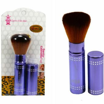 Harga Queen Of The Shine Make Up Brush / Rectrectable Brush / Kuas Blush On 002 (Blue)