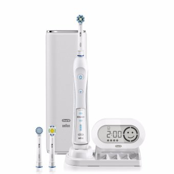Harga Oral-B WHITE 7000 SmartSeries Power Rechargeable Electric Toothbrush with Bluetooth Connectivity Powered by Braun - intl