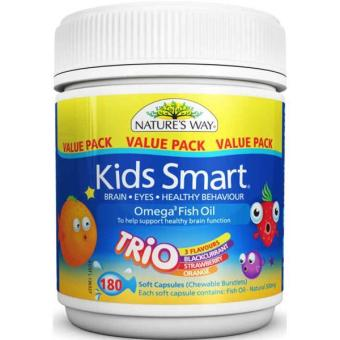 Harga Natures Way 180 Kps Kids Smart Minyak Ikan Omega 3 Fish Oil Trio Flavr