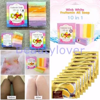 Harga Fruitamin Soap by Wink White 1 Pcs + Makser Mata Collagen 10 Sachet