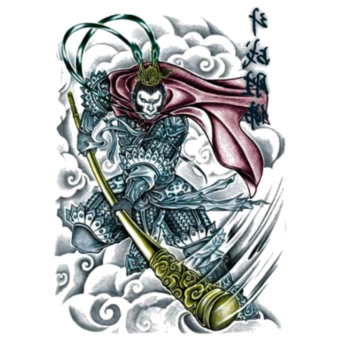 Harga Tato Sticker Sketch Powerful The Monkey King Painting Design Cool Temporary Tatto Sticker