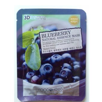 Harga Food a Holic 3D Mask - Blueberry (Masker Wajah Asli Korea, Bukan KW)