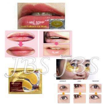 Collagen Lip Mask - Masker Bibir - 10 Pcs - Collagen Crystal Eye Mask - Masker
