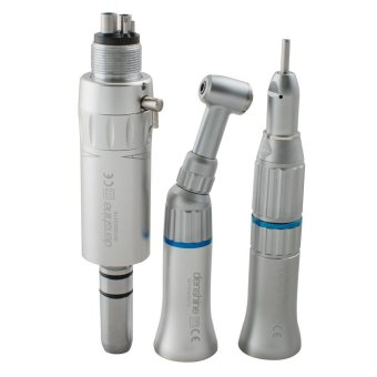 Harga Vinmax Dental 4-Hole Slow Low Speed Handpiece Kit Push Button Contra Angle Handpiece + Straight Nose Cone + Air Motor 4H E-type FDA CE - intl