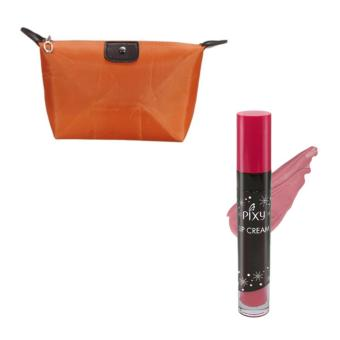 Harga Pixy Lip Cream 01 Chic Rose Free Alisha Tas Kosmetik Mini Brown