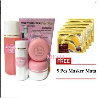 Harga Baby Pink Cream Sucofindo Original 30gr + 5 Pcs Collagen Crystal Eye Mask