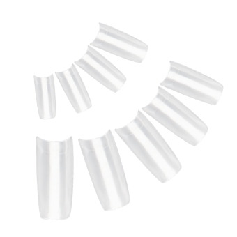 500 PCS Home Salon ABS Clear French Style False Artificial Nail Art Tips Decorations for Women Ladies