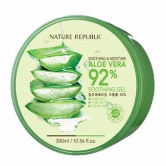 Harga Nature Republic 300ml Aloe Vera 92% Soothing Moisture Gel