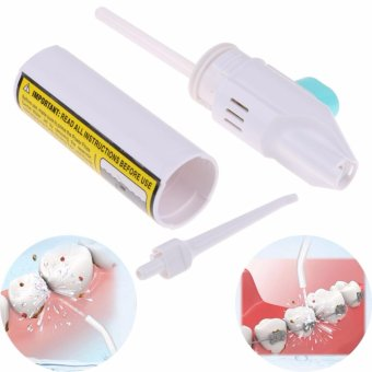 Harga Oral Irrigator Dental Water Jet Floss Pick Teeth Cleaning Flusher Air Powered - intl