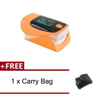 Harga Vinmax RPO-8A3 Portable LED Finger Pulse Oximeter Blood Oxygen SpO2 PR Monitor + Free 1Pcs Black Cotton Carry Case Bag (Orange) - intl