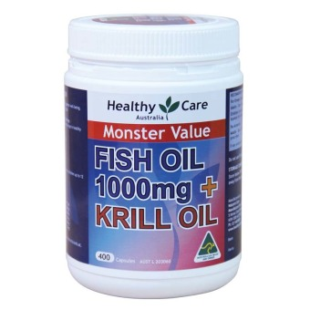 Harga Healthy Care Fish Oil 1000mg + Krill Oil - 400 capsules