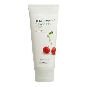 Harga The Face Shop Herb Day 365 Cleansing Foam 170ML - Acerola