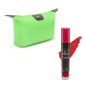 Harga Pixy Lip Cream 02 Party Red Free Alisha Tas Kosmetik Mini Hijau Tosca