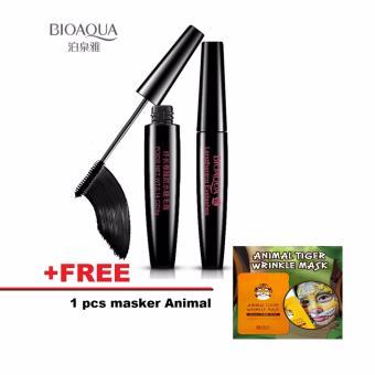 BIOAQUA WATERPROOF MASCARA 8G HITAM FREE SNP MASKER ANIMAL TIGER ASLI KOREA
